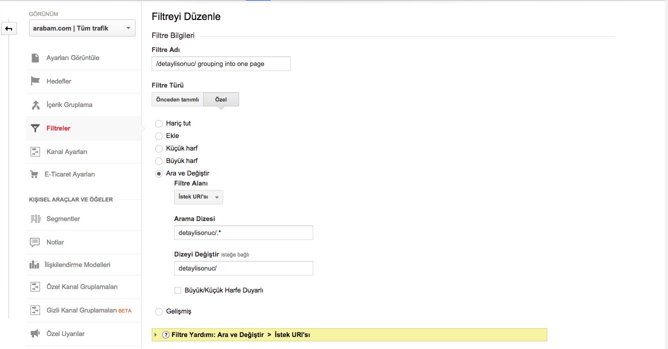 Google Analytics'teki (other) sorununu çözecek filtre